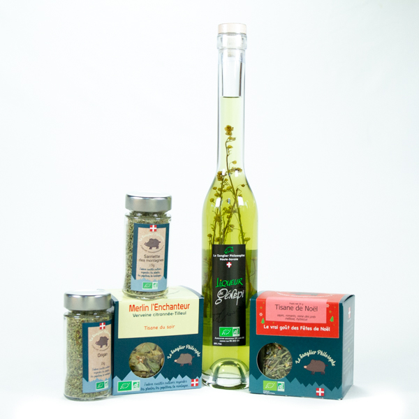 coffret tisanes aromates liqueur